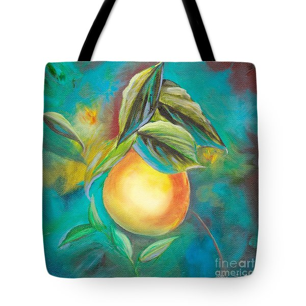 Tote Bag featuring the painting Orange Tree by Mary Scott