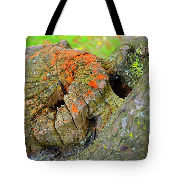 Orange Tree Stump Tote Bag