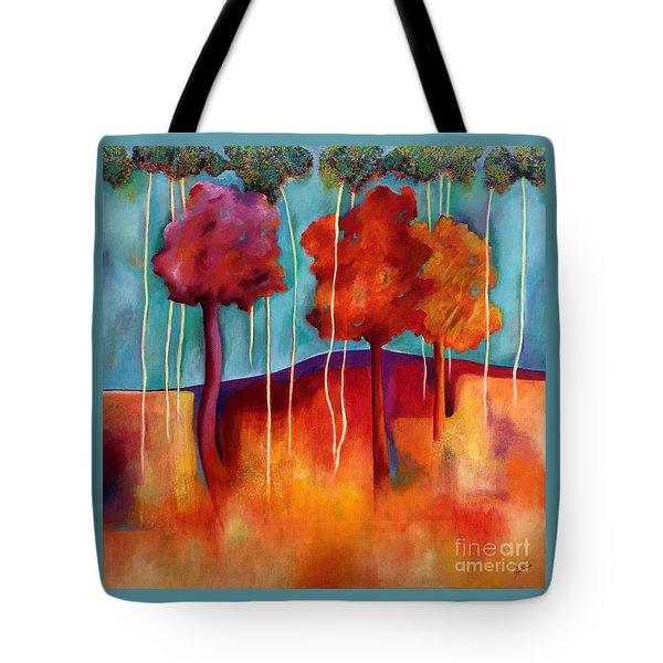 Orange Trees Tote Bag