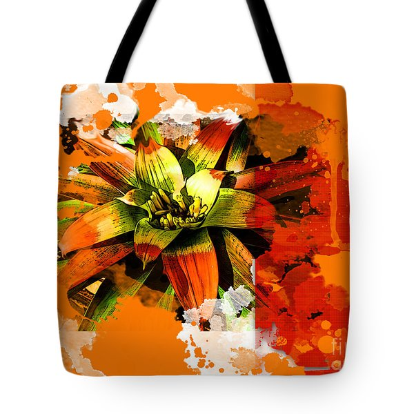 Orange Tropic Tote Bag