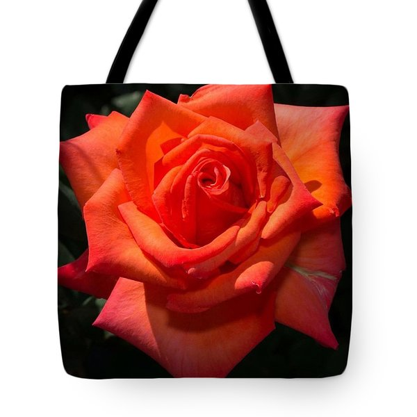 Orange Tropicana Rose  Tote Bag