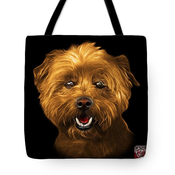 Tote Bag featuring the mixed media Orange West Highland Terrier Mix - 8674 - Bb by James Ahn