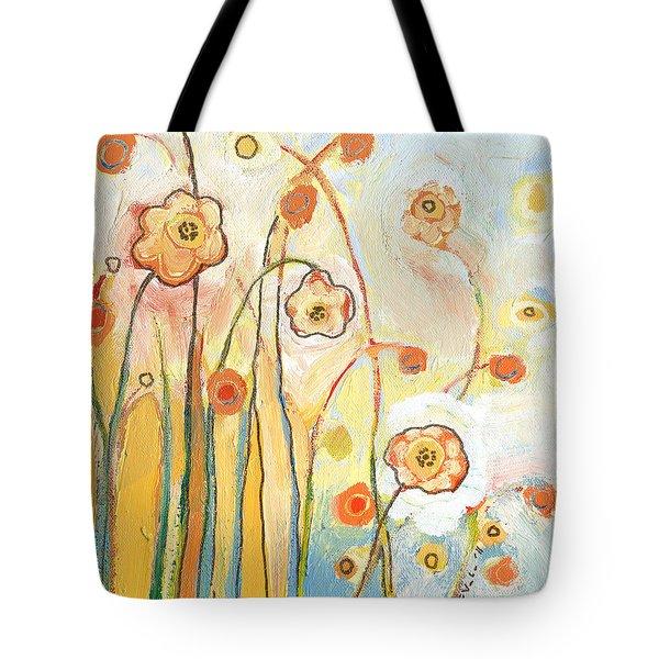 Orange Whimsy Tote Bag