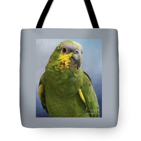 Orange Wing Amazon Parrot Tote Bag