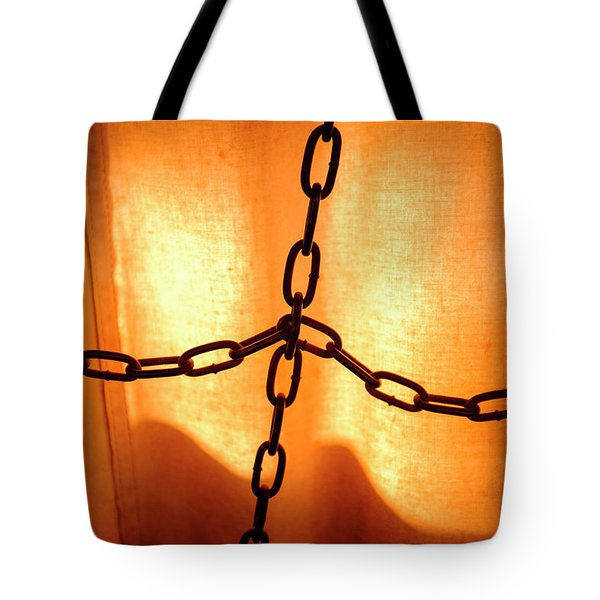 Orange With Black Chains In Seattle Washington Tote Bag