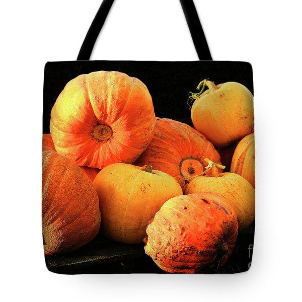 Orange Yellow Pumpkins Tote Bag