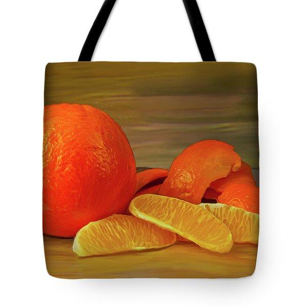 Oranges 01 Tote Bag by Wally Hampton