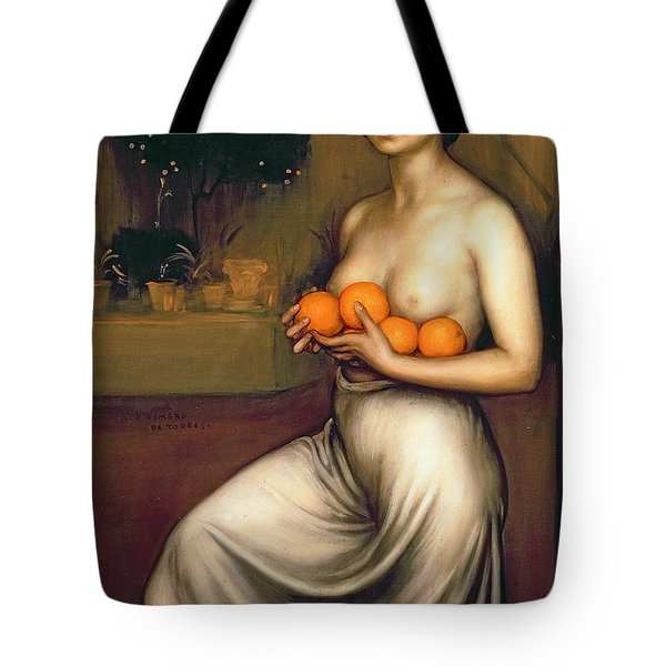 Oranges And Lemons Tote Bag by Julio Romero de Torres