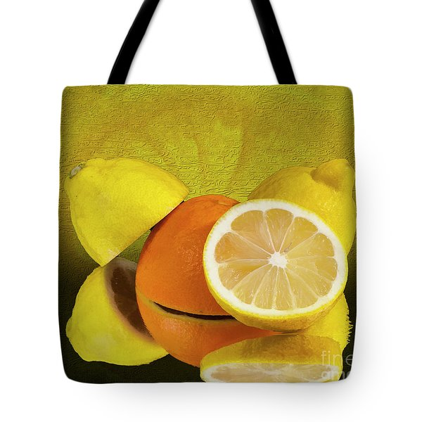 Oranges And Lemons Tote Bag