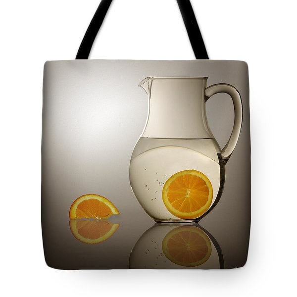 Tote Bag featuring the photograph Oranges And Water Pitcher by Joe Bonita
