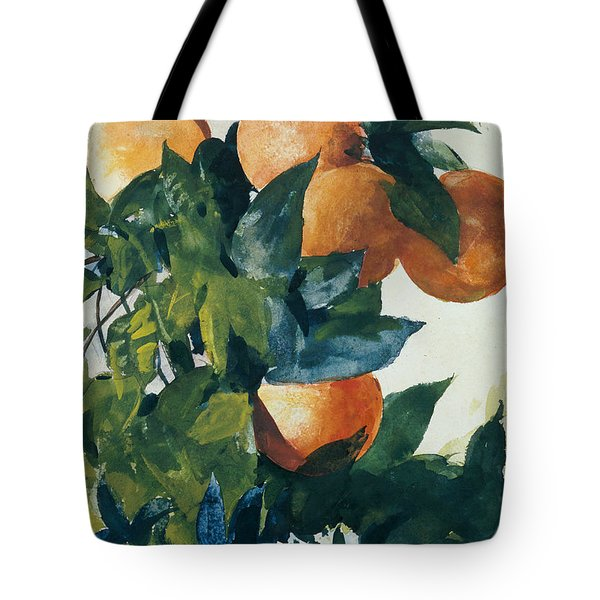 Oranges On A Branch Tote Bag by Winslow Homer