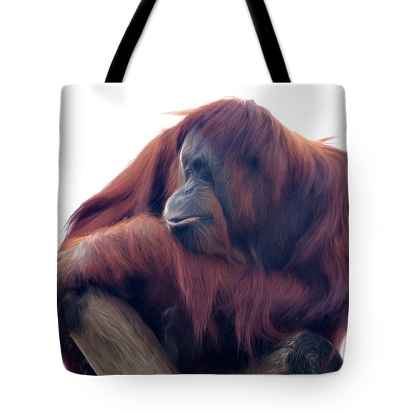 Tote Bag featuring the photograph Orangutan - Color Version by Lana Trussell