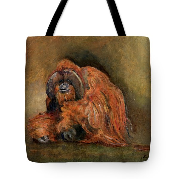 Orangutan Monkey Tote Bag