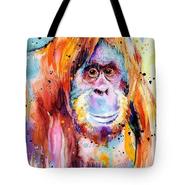 Orangutan  Tote Bag by Slavi Aladjova