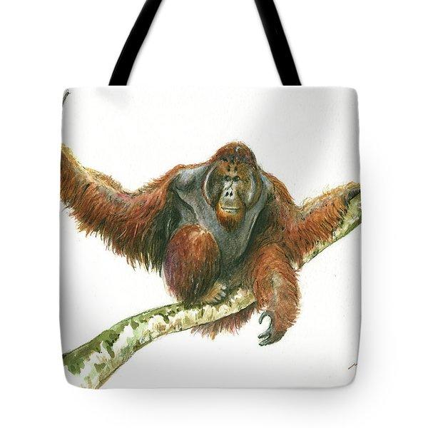 Orangutang Tote Bag