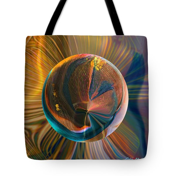 Tote Bag featuring the painting Orbing Good Vibrations by Robin Moline
