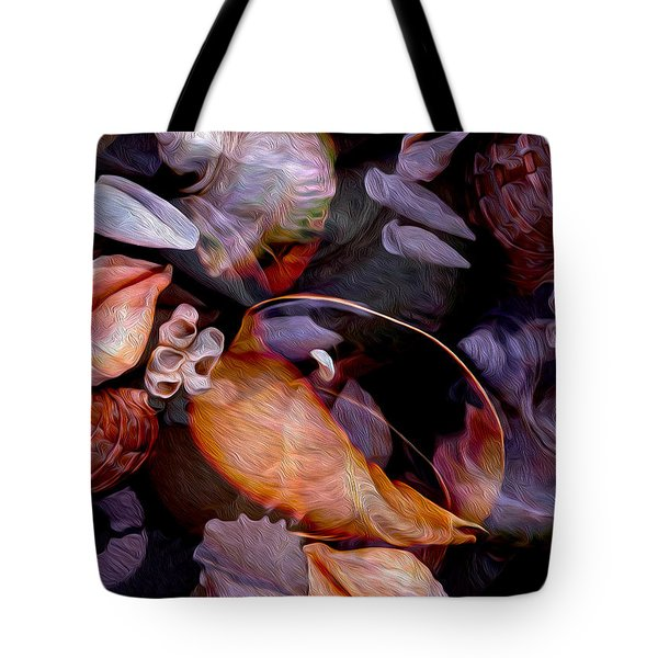 Orbiting Seashells Tote Bag