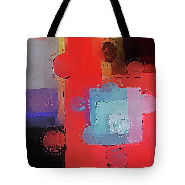 Tote Bag featuring the mixed media Orbs by Eduardo Tavares