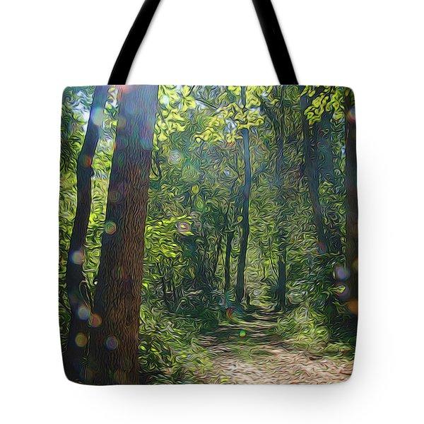 Orbs In The Woods Tote Bag