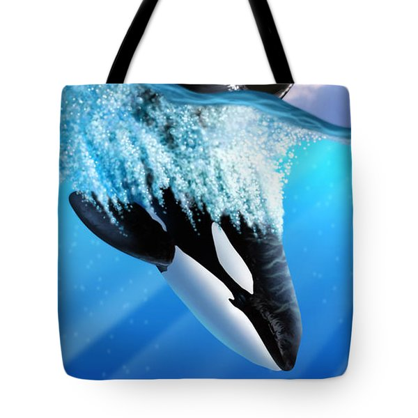Orca 2 Tote Bag by Jerry LoFaro
