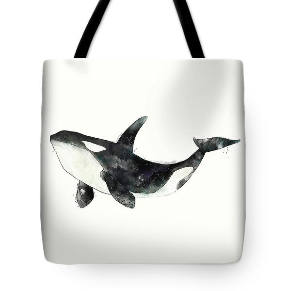 Orca From Arctic And Antarctic Chart Tote Bag