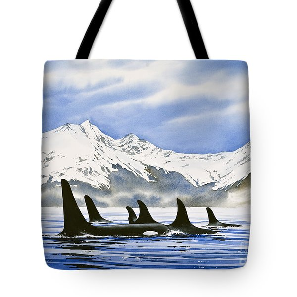 Orca Tote Bag by James Williamson