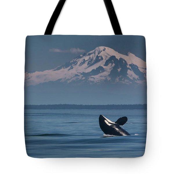 Orca - Mt. Baker Tote Bag