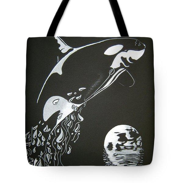 Orca Sillhouette Tote Bag by Mayhem Mediums