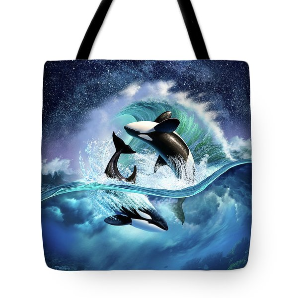 Orca Wave Tote Bag