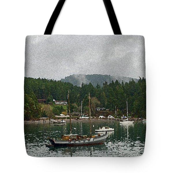 Orcas Island Digital Enhancement Tote Bag