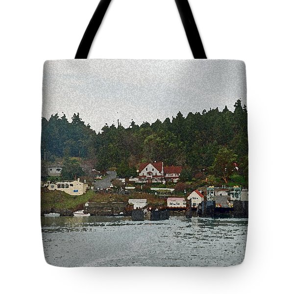 Orcas Island Dock Digital Tote Bag