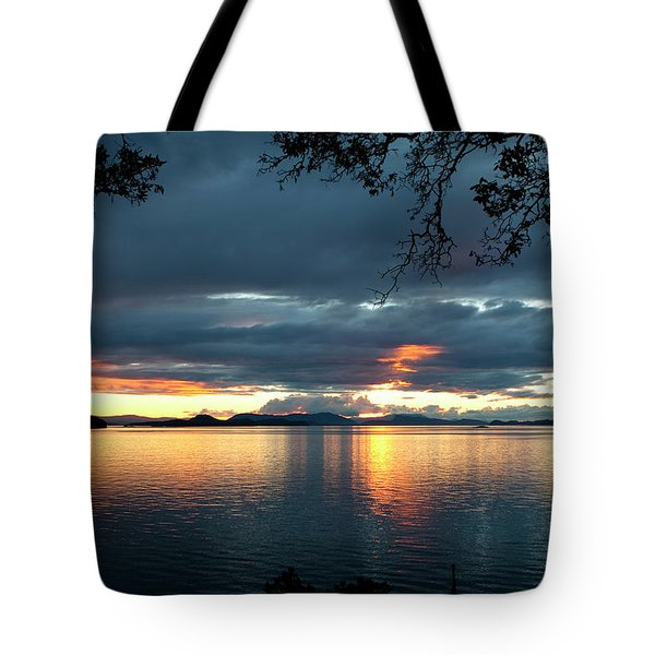 Tote Bag featuring the photograph Orcas Island Sunset by Lorraine Devon Wilke
