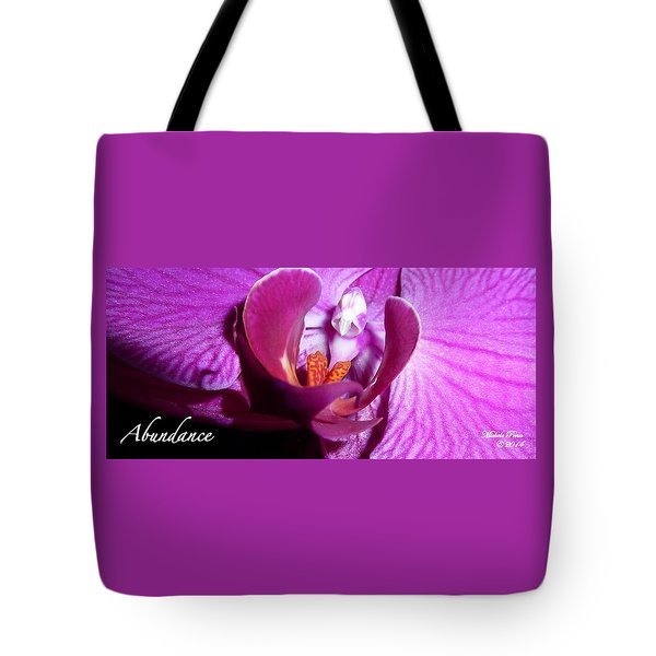 Orchid Abundance Tote Bag