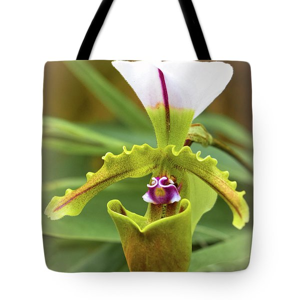 Tote Bag featuring the photograph Orchid Allure by Richard Goldman