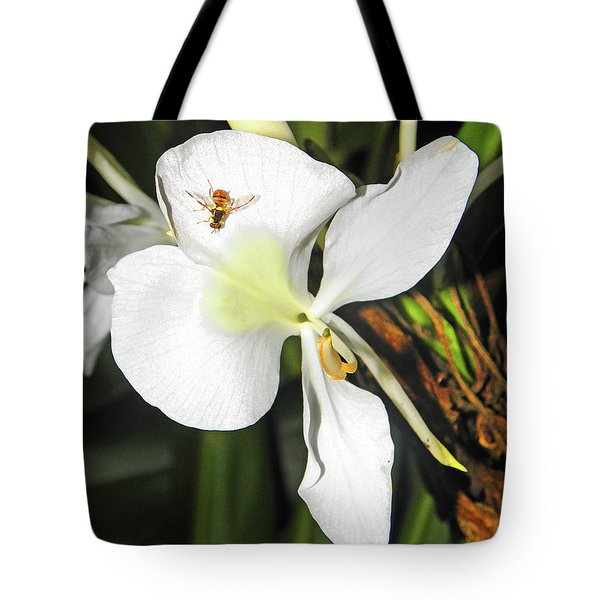 Orchid And Bee Tote Bag