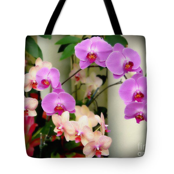 Tote Bag featuring the photograph Orchid Beauties by Sue Melvin