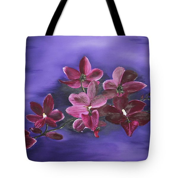 Orchid Blossoms On A Stem Tote Bag