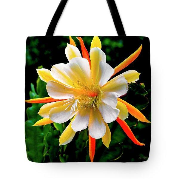 Orchid Cactus Epiphyllum Tote Bag