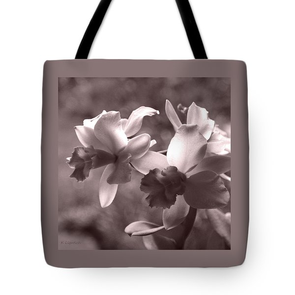 Tote Bag featuring the photograph Orchid Dream - Square by Kerri Ligatich
