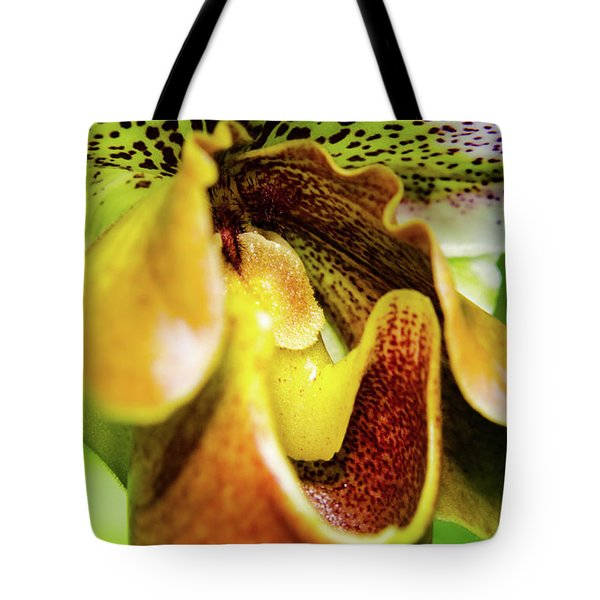 Orchid Faces Tote Bag