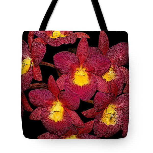 Orchid Floral Arrangement Tote Bag