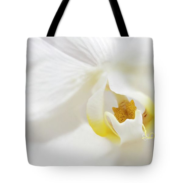 Orchid Flower Close Up Tote Bag