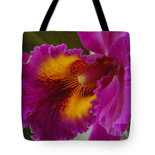 Tote Bag featuring the photograph Orchid In The Wild by Debbie Karnes