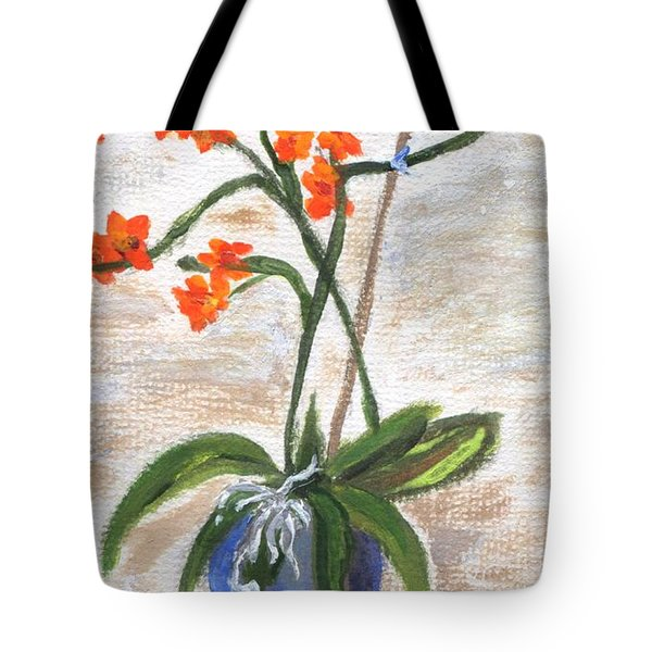 Tote Bag featuring the painting Orchid by Jamie Frier
