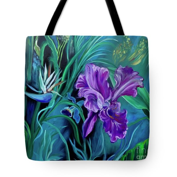 Orchid Jungle Tote Bag