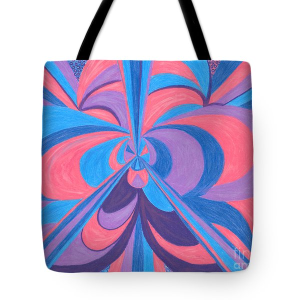 Tote Bag featuring the drawing Orchid by Kim Sy Ok
