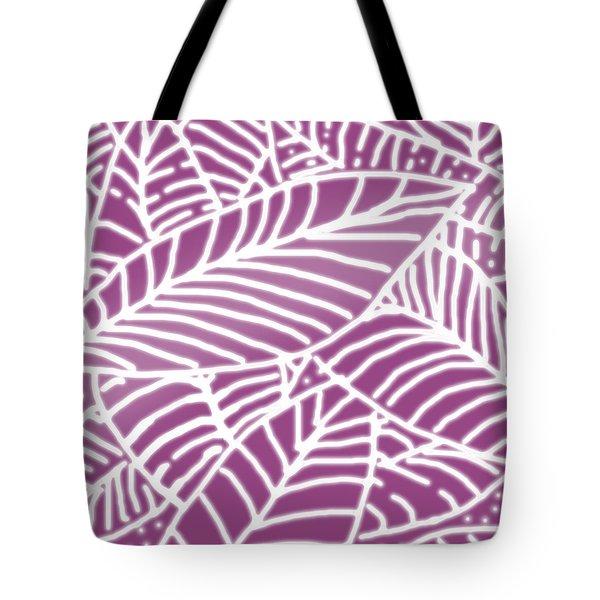 Orchid Leaves Batik Tote Bag