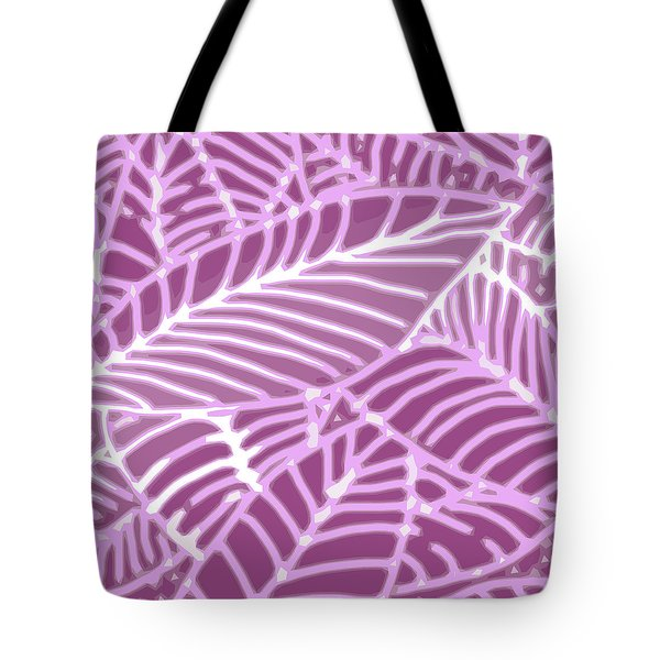 Orchid Leaves Cutout Tote Bag