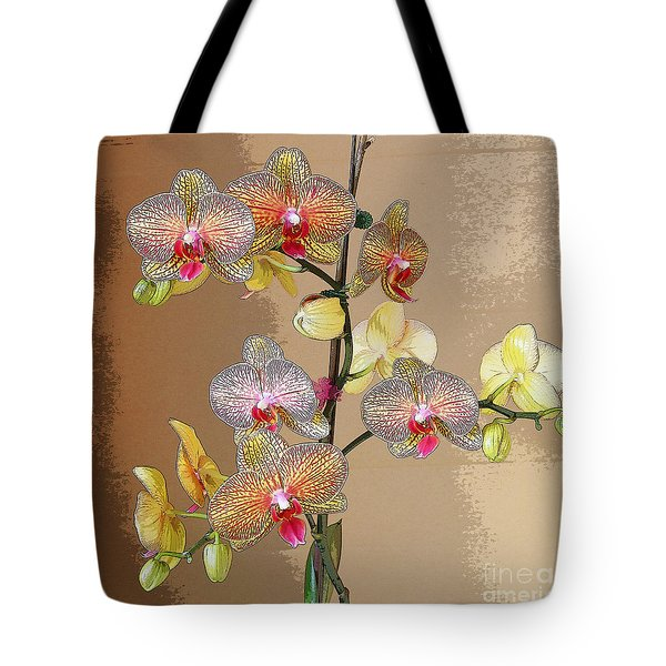 Orchid Love Tote Bag by Jeanette French