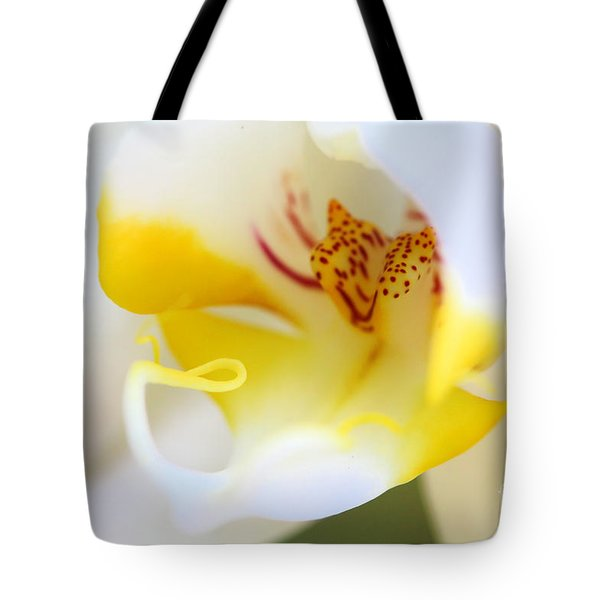 Orchid Macro Tote Bag by Jared Shomo